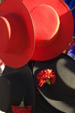 ES03076 Hats, Plaza de Espana, Seville, Sevilla Province, Andalucia, Spain