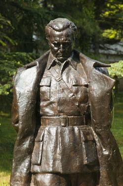 SB01019 Serbia, Belgrade, Statue of  of Joseph Broz Tito (1902, 1980) former dictator of Yugoslavia near the House of Flowers