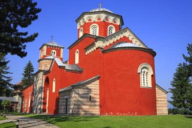 SB02002 Ascension church of Zica monastery (1208-1215), near Kraljevo, Serbia