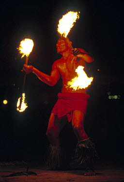 SM01001 Fire dancing, Samoa
