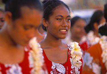 SM01006 Samoan girl, Teuila festival, Samoa