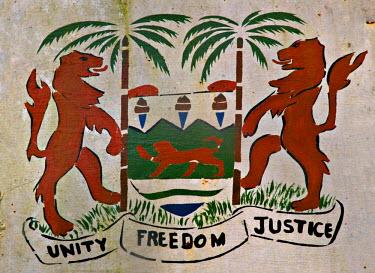 SR01007 Sierra Leone crest, Freetown, Sierra Leone