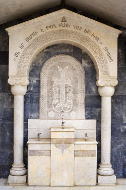 SY01051 Armenian church, memorial to Armenian genocyde in 1915, Damascus, Syria