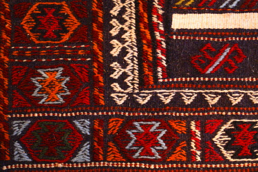 SY01057 Bedouin carpet made from camel wool, Aleppo, Syria