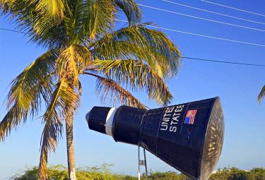 TC01021 Replica of NASA Mercury Space Capsule, Cockburn Town, Turks & Caicos, Caribbean