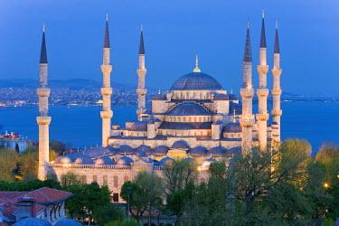 TK01245 Blue Mosque, Sultanahmet, Bosphorus, Istanbul, Turkey