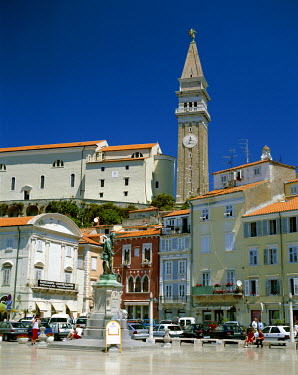 TPX3806 Town Square & Clock Tower, Piran, Primorska Region, Slovenia