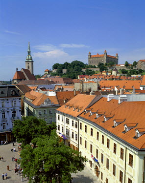 TPX3821 Old City Rooftops & Castle, Bratislavia, Slovakia