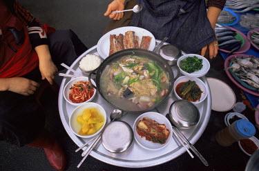 TPX7326 Korea, Busan, Jagalchi Market, Typical Korean Meal