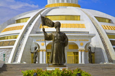 TR012RF Turkmenistan, Ashgabat, (Ashkhabad), Berzengi, Independance Park, The monument to the Independence of Turkmenistan