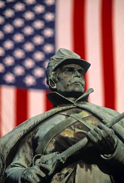 US12018 Civil War Monument, State Capitol, Denver, Colorado, USA