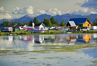 US41076 Lake Hood Air Harbor, Anchorage, Alaska, USA