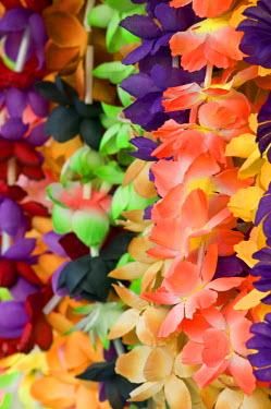 VA01016 Vanuatu, Efate Island Port Vila, Waterfront Market- flower leis