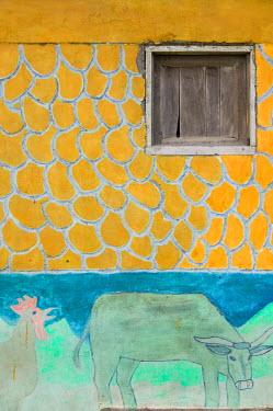 VA01053 Vanuatu, Tanna Island Lenakel, Waterfront wall detail