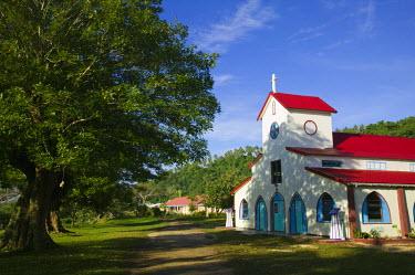 VA01055 Vanuatu, Espiritu Santo Island, Luganville, LA ROSERAIE Village Church