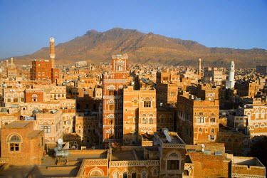 YM01050 Skyline of Sanaa (Unesco World Heritage City), Yemen