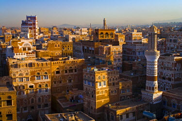 YM01052 Skyline of Sanaa (Unesco World Heritage City), Yemen