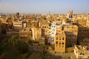 YM011RF Skyline of Sanaa (Unesco World Heritage City), Yemen