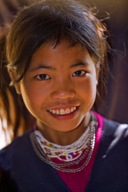 Myanmar, Burma, Wan-seeing. A Loi girl at Wan-seeing village. The Loi, a Hill Tribe, live in seven villages scattered over a large forested area of the Shan Mountains.