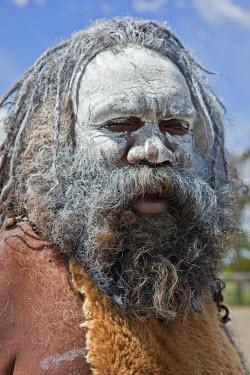 AUS0958 Australia New South Wales. An Aboriginal man at Katoomba.