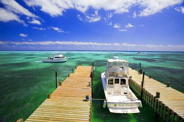 CA42_GJO0083_M Dive Boats, Little Cayman Beach Club, Little Cayman, Cayman Islands, Caribbean.