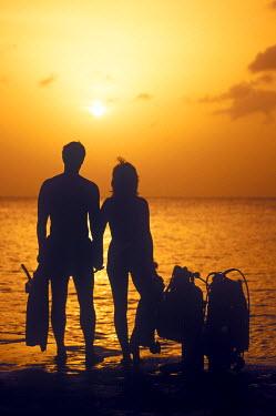 CA42_GJO0117_M Sunset diving, Grand Cayman, Cayman Islands, Caribbean (MR)