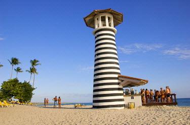CA14_LEN0003_M Dominican Republic, Bayahibe, Iberostar Hacienda Dominicus, lighthouse bar