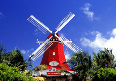 CA04_SPI0005_M Caribbean, Aruba. Old Mill, converted into 'Mill Restaurant'