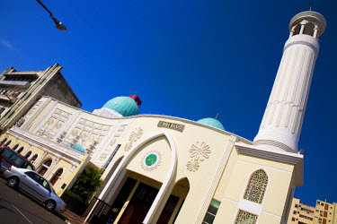 MOZ1285 Mozambique, Maputo. The Jumma Masjid Mosque in the Baixa district of Maputo is well kept and much-frequented. Maputo is the capital of Mozambique. It isa bustling, attractive port city with a populati...