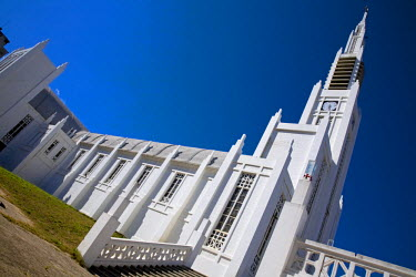 MOZ1313 Mozambique, Maputo. The glistening white Catholic cathedral in the Praça Independencia in the Baixa district of Maputo. The cathedral was completed in 1944. Maputo is the capital of Mozambique. It is...