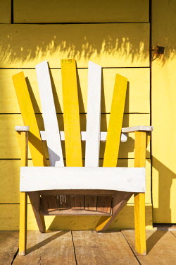 Nicaragua, Corn Islands, Little Corn Island, Iguana Beach, Chairs outside Beach cabana