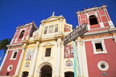 NI01192 Nicaragua, Leon, 18th century El Calvario Church, Iglesia Dulce Nombre de Jesus El Calvario