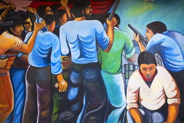 NI01135 Nicaragua, Esteli, Wall mural