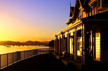 Early light on Fullers Building, Paihia, Bay of Islands, Northland, New Zealand