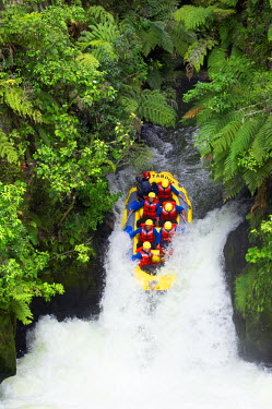 AU02_DWA0116_M Raft, Tutea's Falls, Okere River, near Rotorua, New Zealand