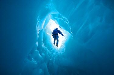 AU02_DWA1283_M Blue Ice Cave, Franz Josef Glacier, West Coast, South Island, New Zealand