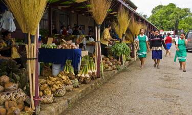OC05_BJA0005_M Polynesia, Tonga, Nuku'alofa. The Nuku'alofa Market