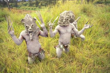 OC12_AWO0005_M Asia, Papua New Guinea, Southern Highlands. Asaro Mudman-Mendi