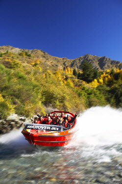 AU02_DWA4550_M Shotover Jetboat, Shotover River, Queenstown, South Island, New Zealand