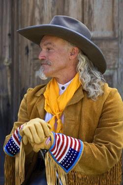 US27_AJE0034_M Actor in period costume, Virginia City, Montana.
