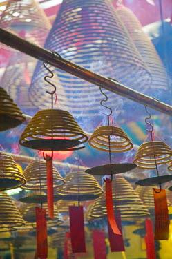CN136RF China, Hong Kong, Central, Man Mo Temple, incense coils