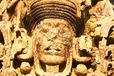 HN01115 Honduras, Copan Ruinas, Copan Ruins, The Great Plaza, Stela B, AD 731
