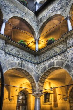 EU38_AJE0018_M Atrium of the Town Hall, Baroque Architecture, Ljubjiana, Slovenia