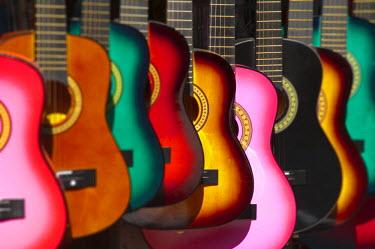 US10469 USA, California, Los Angeles, El Pueblo de Los Angeles,  Guitars