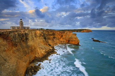 PR01055 Puerto Rico, West Coast, Punta Jaguey, Faro de Cabo Rojo (Red Cape Lighthouse)