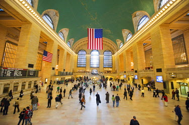 USA7830 USA, New York State, New York City, Manhattan, Grand Central Station hall