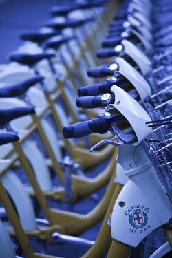 IT07072 Italy, Lombardy, Milan, Bike Mi public rental bicycles