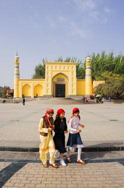 CH8912 China, Xinjiang Province, Kashgar, Id Kah Mosque
