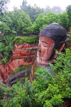 CH8890 China, Sichuan Province, Leshan, Grand Buddha statue