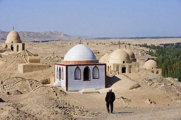 China, Xinjiang Province, Turpan, Ruined city of Jiaohe, on the Silk Route, UNESCO World Heritage Site